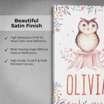 Woodland Owl - Personalized Canvas - [variant_title]