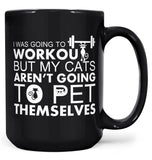 Workout Cats - Mug - Black / Large - 15oz