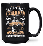 World's Best Fisherman - Mug - Black / Large - 15oz