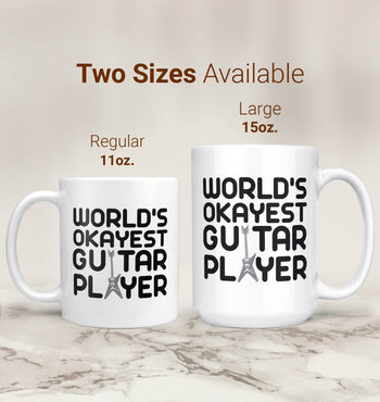 World's Okayest Guitar Player - Mug - [variant_title]