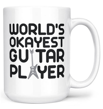 World's Okayest Guitar Player - Mug - White / Large - 15oz