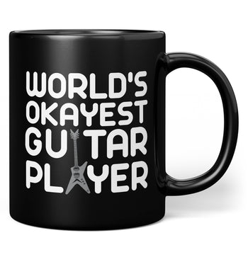 World's Okayest Guitar Player - Mug - Black / Regular - 11oz