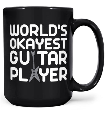 World's Okayest Guitar Player - Mug - Black / Large - 15oz