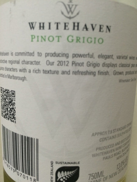whitehaven pinot grigio buy online winestore singapore