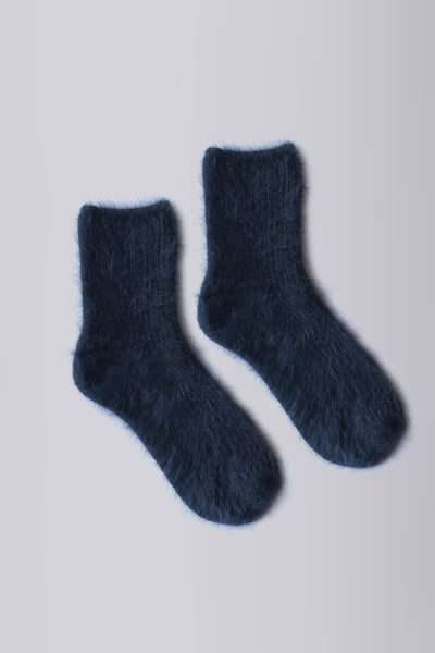Angora Socks Navy