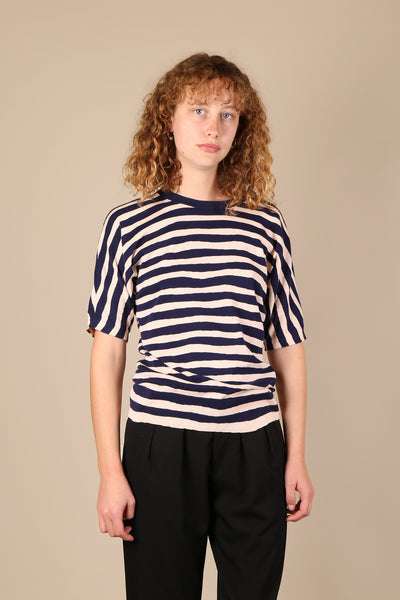 Balenciaga Striped Knit Top