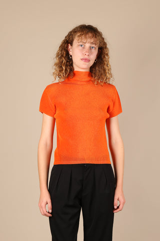Issey Miyake Pleats Please Top Orange
