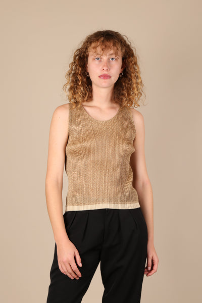 Issey Miyake Pleats Please Sleeveless Top