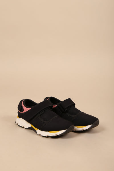 Marni Velcro Sneaker Black/Yellow/Pink - ShopGoh