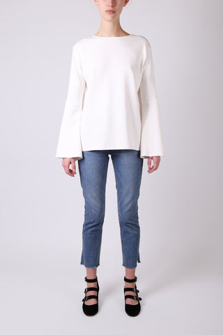 Bell Sleeve Top White