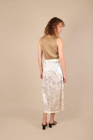 Bernhard Willhelm Face Print Skirt