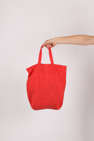 Cotton Tote Bag Red