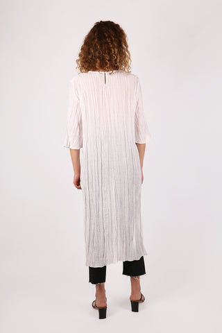 Crinkle Tunic Top White - ShopGoh