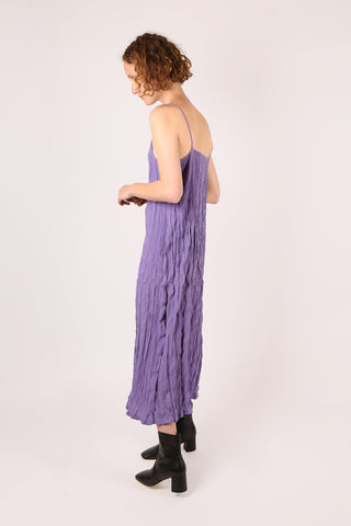 Crinkle Slip Dress Violet