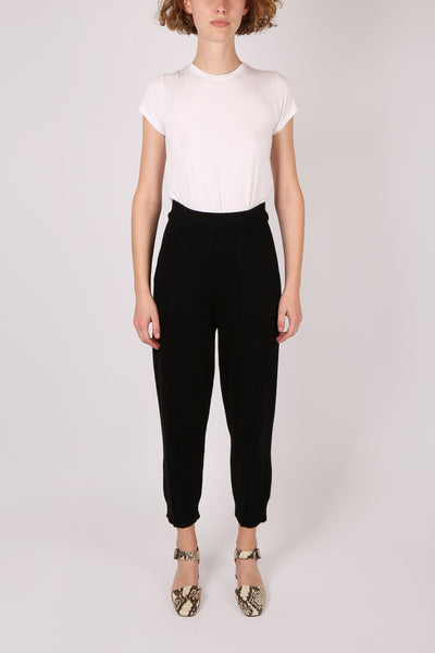 Cropped Wool Knit Trackpant