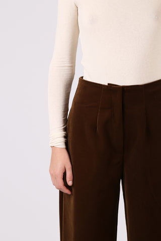 Cuffed Corduroy Pant Brown