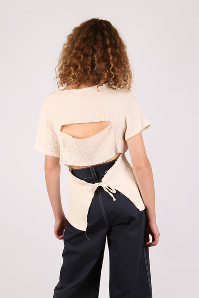 Cut Out Top Cream - ShopGoh