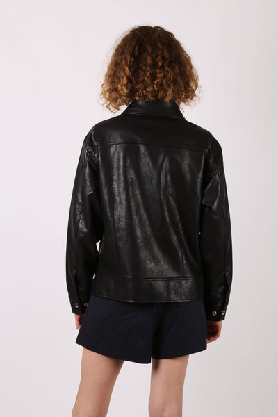 Faux Leather Biker Jacket - ShopGoh