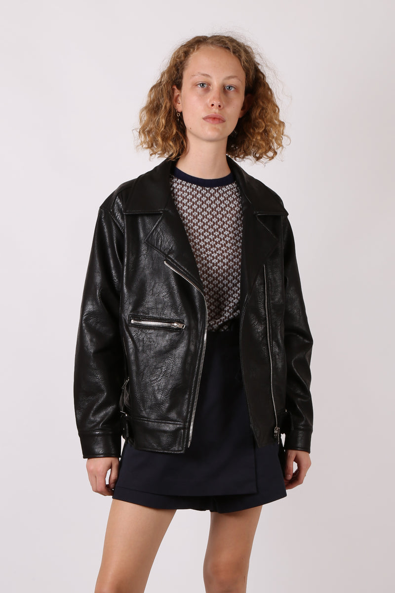 ed4738a5801 Faux Leather Biker Jacket ...
