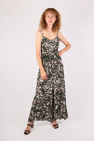 Floral Jumpsuit Dark Green
