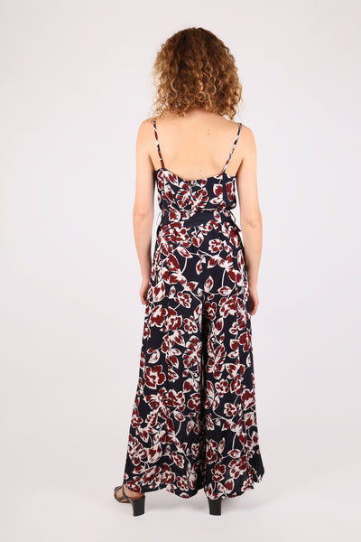 Floral Jumpsuit Navy - ShopGoh