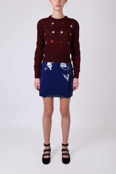 Flower Jumper Burgundy