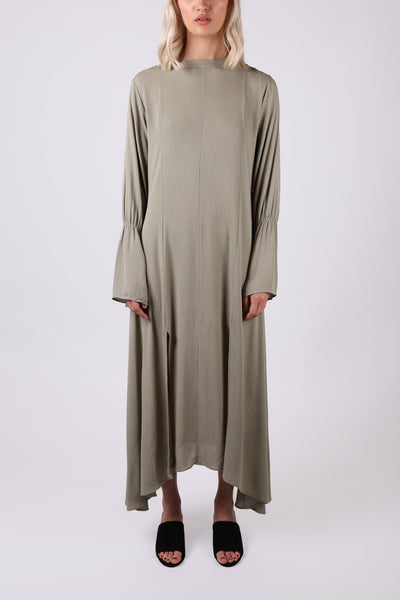 Fluted Sleeve Maxi Dress