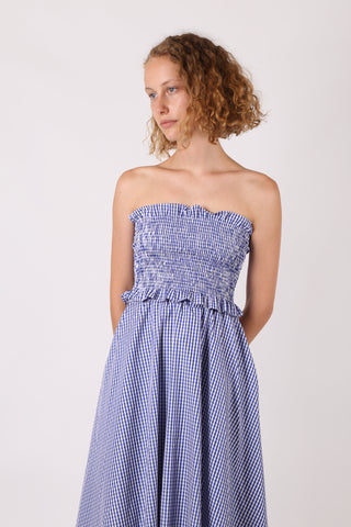 Gingham Skirt Set Blue/White