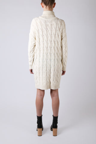 Oversized Cable Knit Dress