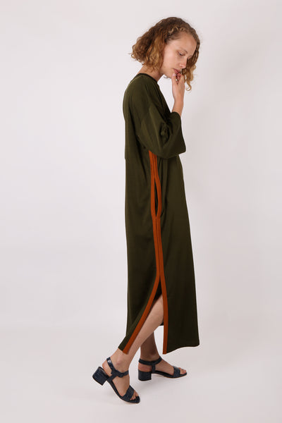 Oversized Tee Dress Green/Orange