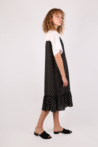 Polka-dot Tee Dress