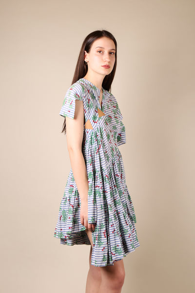 Bernhard Willhelm Cherry Print Dress - ShopGoh