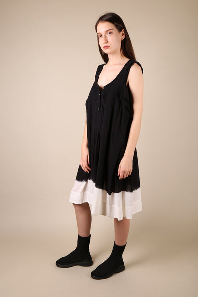 Bernhard Willhelm Black/White Dyed Dress - ShopGoh