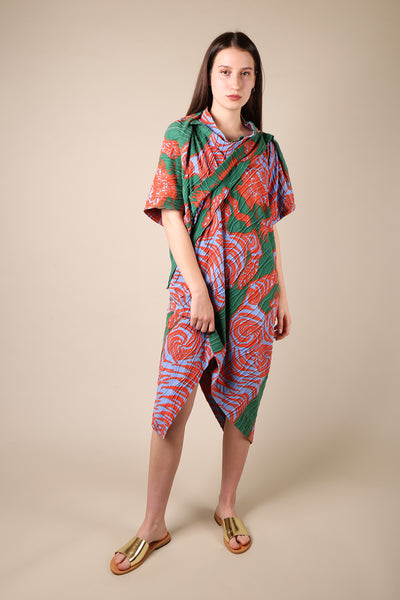 Bernhard Willhelm Printed Asymmetric Dress - ShopGoh