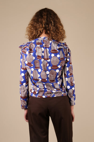 Comme des Garçons Braid Print Long Sleeve Top - ShopGoh