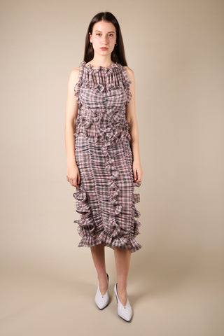 Marc Jacobs Checked Ruffle Dress