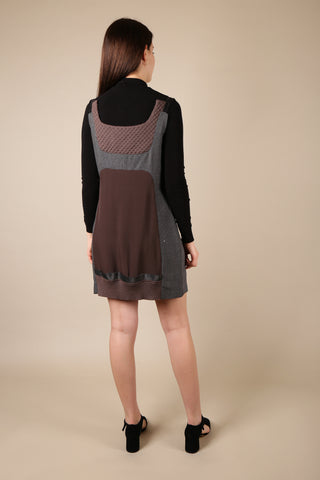 Undercover Mixed Fabric Pinafore Dress