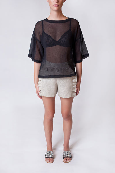 Sheer Flowy Top