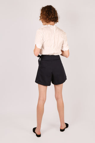 Side Tie Skort Navy - ShopGoh