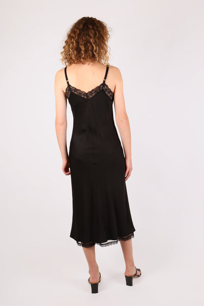 Slip Dress with Lace Trim - ShopGoh