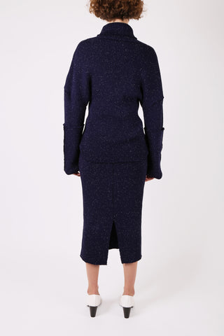 Speckled Knit Navy