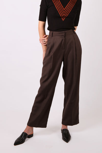 Straight-Leg Pant Brown