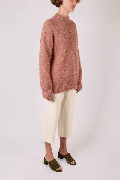 Tinsel Jumper Dusty Pink