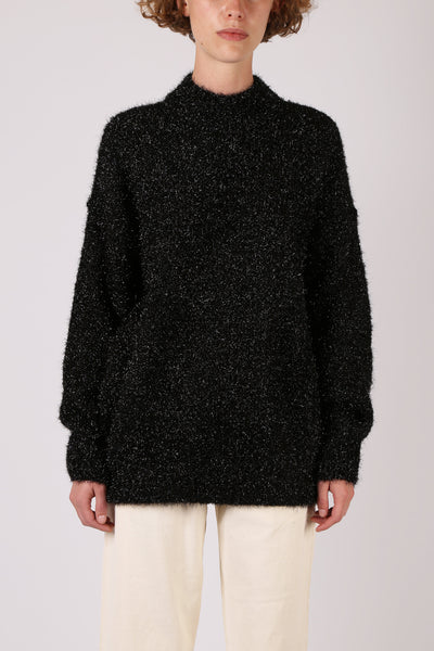 Tinsel Jumper Black
