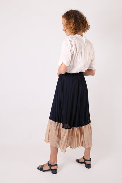Two Tone Pleated Skirt - ShopGoh