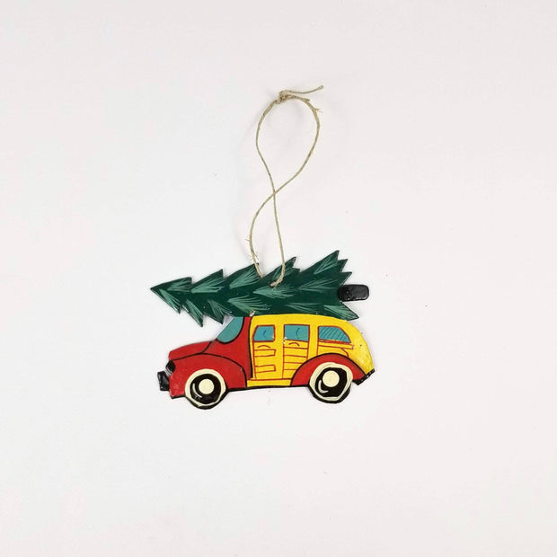 Old Time Christmas Car Ornament