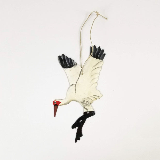 Christmas Crane Ornament