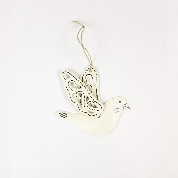 Christmas Ornament Turtle Dove Set