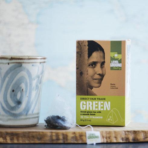 Level Ground Trading - Fair Trade Indian Green Tea - Tea - Ethical Trading Company
