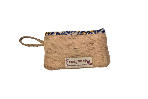 Beauty For Ashes - Handmade Burlap Coin Purse - Coin Purse - Ethical Trading Company